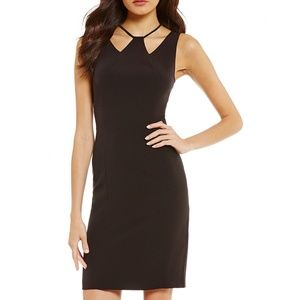 NWT Black Strappy Halter Cocktail Sheath Dress LBD